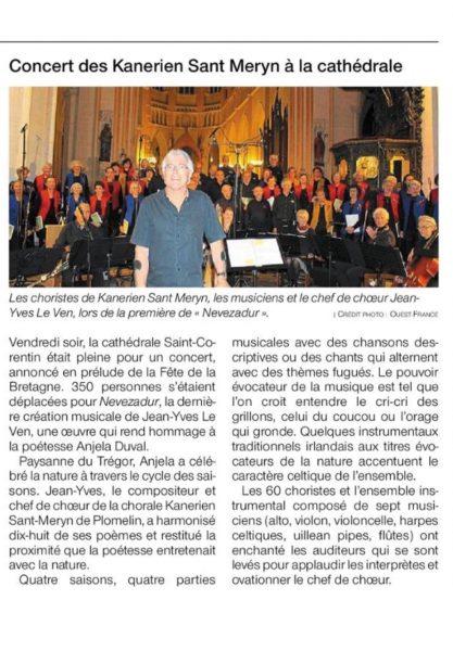 concert du 17 mai 2019 à Quimper